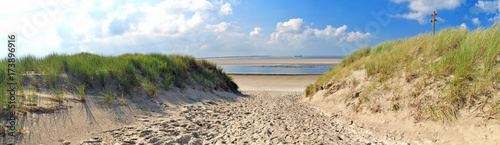 Plexiglas Noordzee Nordsee, Strand auf Langenoog: Dünen, Meer, Entspannung, Ruhe, Erholung :)