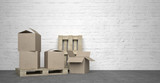 card boxes on pallet - 173900907