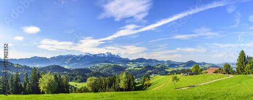 Foto op Aluminium Panoramafoto s Impressionen aus dem Appenzeller Land