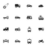 Set Of 16 Editable Transport Icons. Includes Symbols Such As Service Car, Transportation, Spyglass And More. Can Be Used For Web, Mobile, UI And Infographic Design. - 173912106