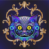 The head of the Cheshire cat from the fairy tale Alice in Wond - 173918386