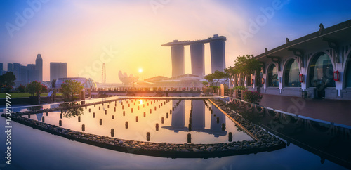 Singapore skyline background Poster