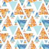 Abstract geometric background in retro vintage 80s 90s pop art. - 173928161
