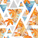 Abstract geometric background in retro vintage 80s 90s pop art. - 173928331