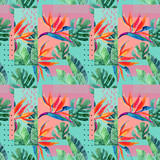 Abstract tropical summer design in minimal style. - 173930300