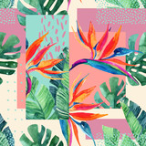 Abstract tropical summer design in minimal style. - 173930371
