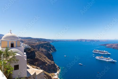 Foto op Aluminium Santorini Santorini sea view, greece