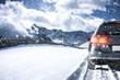 Quadro car and winter road