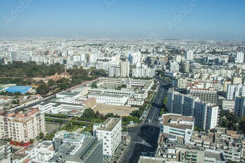 Papiers peints Maroc View over the city of Casablanca, Morocco