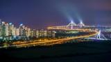 Time lapse of incheon bridge in South Korea. - 173947771