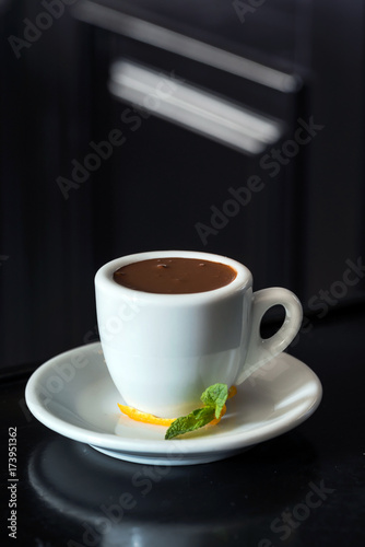 Fotobehang Chocolade hot chocolate