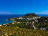 Lindos. Acropolis. Rhodes, Dodecanese, Mediterranean Greek island. Greece - 173951743
