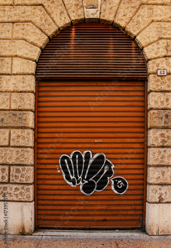 Foto op Canvas Graffiti Graffiti - Background picture