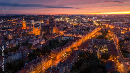 obraz lub plakat Zachód słońca w Gdańsku