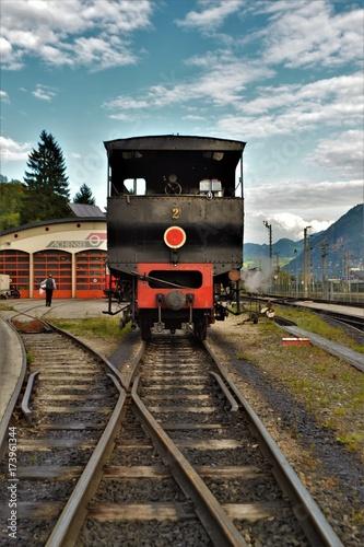 In de dag Spoorlijn Alte Dampflock