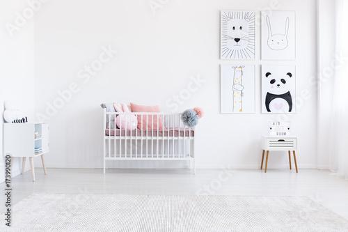Fototapeta Simple kid's bedroom with posters