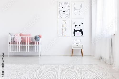 Panda drawing in girl's bedroom Poster
