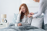 Young woman with sinus infection - 173990998