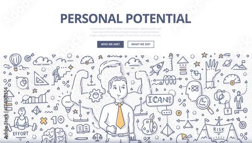 Fototapeta Personal Potential Doodle Concept