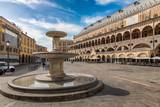 Springbrunnen am Piazza delle Erbe in Padova, Italien - 174011502
