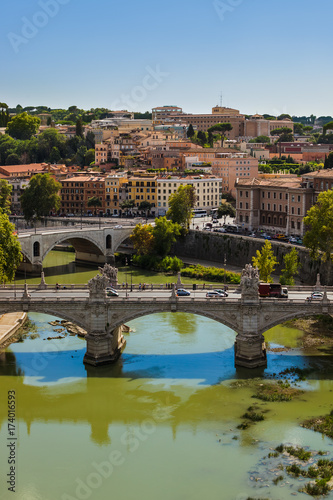 Rome Italy cityscape Poster