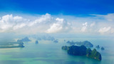 Phuket Island Beauty islands, view from the plane - 174025780
