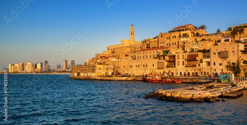 Jaffa Old Town and Tel Aviv skyline, Israel
