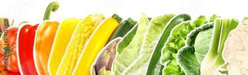 In de dag Verse groenten Gemüse - Panorama