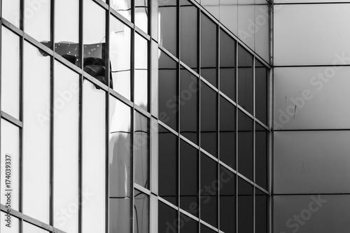 Straight lines in modern architecture Poster