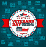 Veterans day greeting card template - 174045556