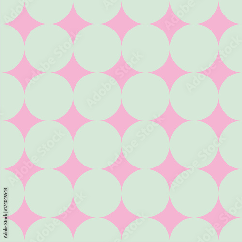 Polka dot seamless pattern. Dotted background with circles, dots, rounds Vector illustration - 174046543