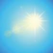 sonnenschein blauer himmel