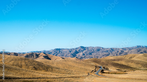 Deurstickers Blauw desert