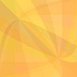 Orange double curved ray burst background - vector design from swirling rays