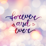 forever and ever lettering, vector handwritten text - 174060337