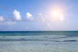 tropical landscape quiet sea and the blue sky with clouds.. - 174067981