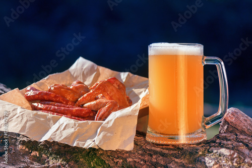 Oktoberfest mug beer with food weekend.