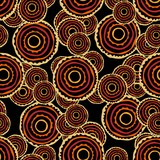 Fototapety African ethnic seamless pattern for fabric, textile, paper. Vector bright illustration on black background