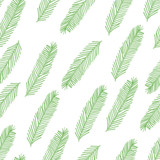 Seamless pattern with Christmas tree branch on white. Vector illustration
