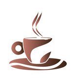 Isolated abstract coffee mug logo, Vector illustration