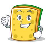 Thumbs up sponge cartoon character funny - 174140111