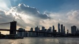 Brooklyn Bridge and Manhattan Skyline Clouds Day Timelapse - 174160102