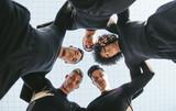 Five a side football team huddle - 174179375