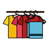 Clean laundry hanging icon vector illustration design - 174189101