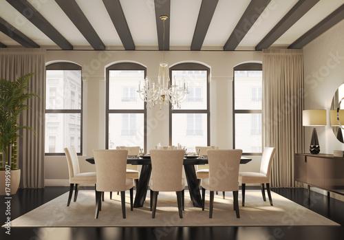 New York inspired dining room