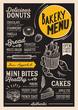 Bakery menu restaurant, food template. - 174198145