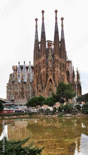 Aluminium Barcelona Basilica and Expiatory Church of Holy Family in Barcelona. Spain