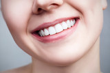 Close-up healthy smile of young woman. - 174201150