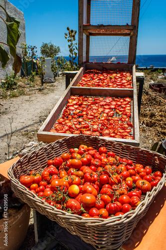 Foto op Aluminium Santorini Sun dried tomatoes