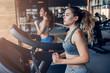 Leinwanddruck Bild - Sports women in gym